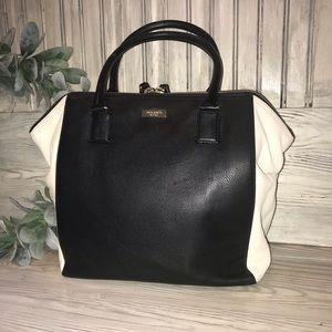 Kate Spade Black & Cream Leather Tote